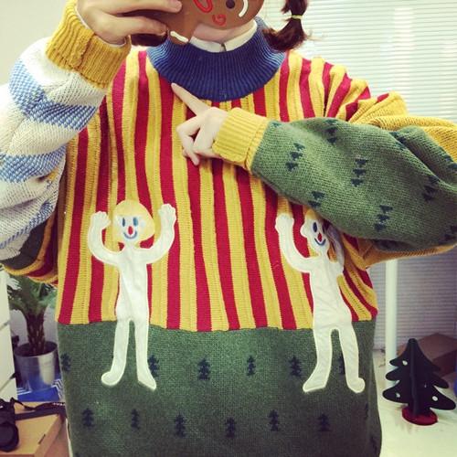 2016 новинка о шеи милые пуловеры олень свитера теплый соответствия пары уродливый ...