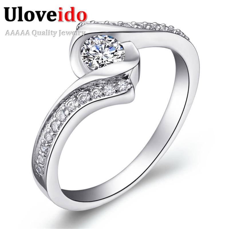 Uloveido Ringen African CZ Diamond Jewellery With Zircon White Gold Plated Dubai Ring Bijoux De Soiree Semi Joia Rings J367(China (Mainland))
