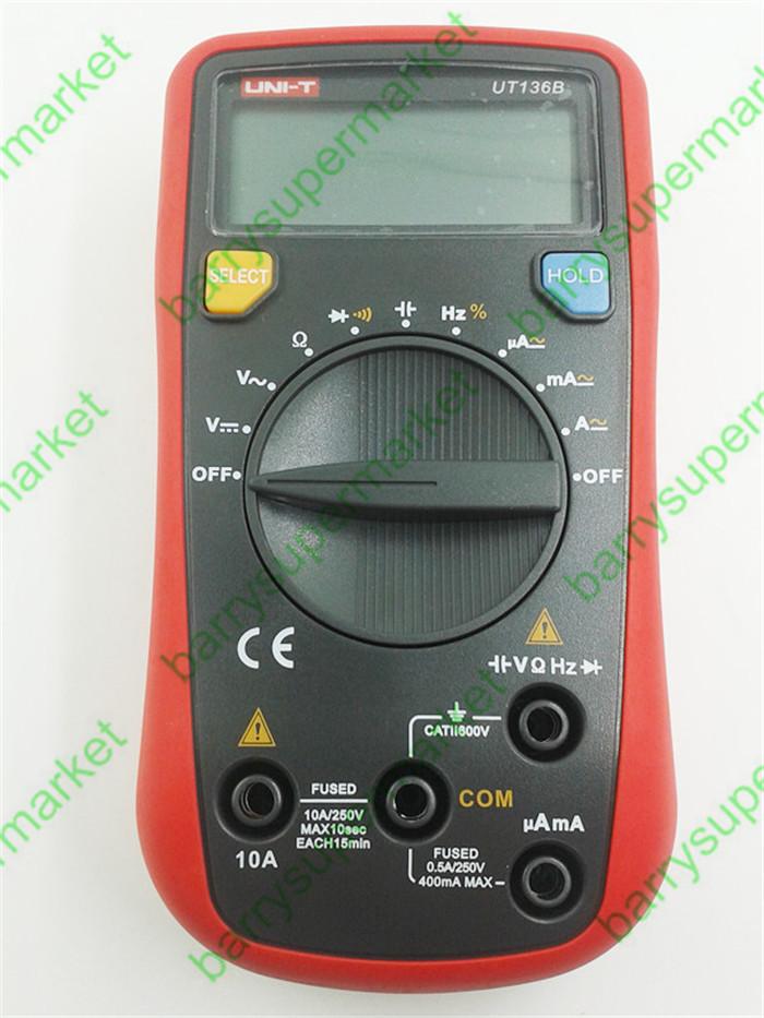 5sets UNI-T UT136B Auto Range Digital Multimeter AC DC Frequency Resistance Tester<br><br>Aliexpress