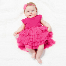 0-3Y Lovely Kids Baby Girls Princess Tutu Dress Cotton Blends Layered Top Clothes Cake Dresses L8