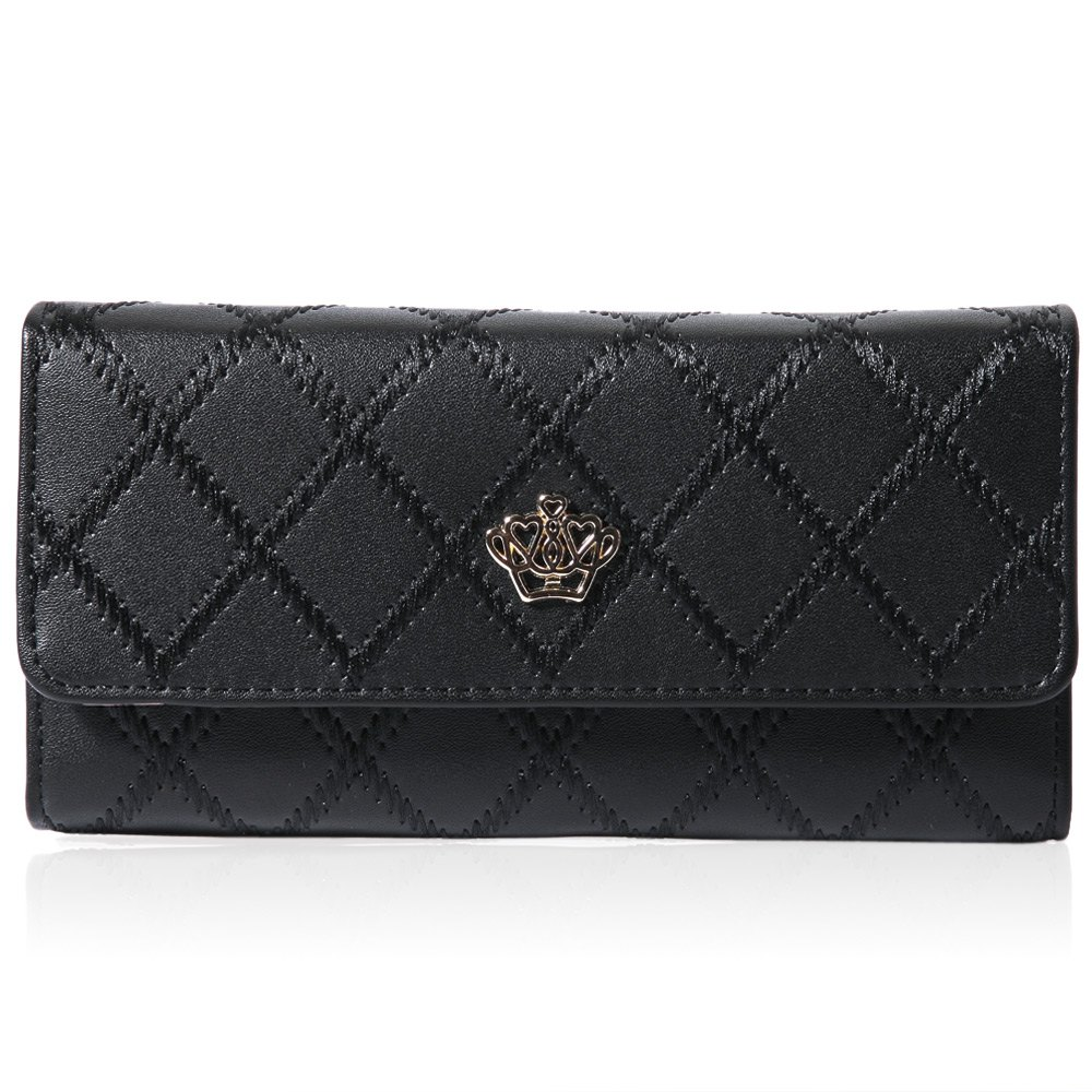 Brand Designer Female Long Clutch Wallet Women Wristlet Crown Wallets PU Leather Credit Card Ladies Purse For Women Carteras(China (Mainland))
