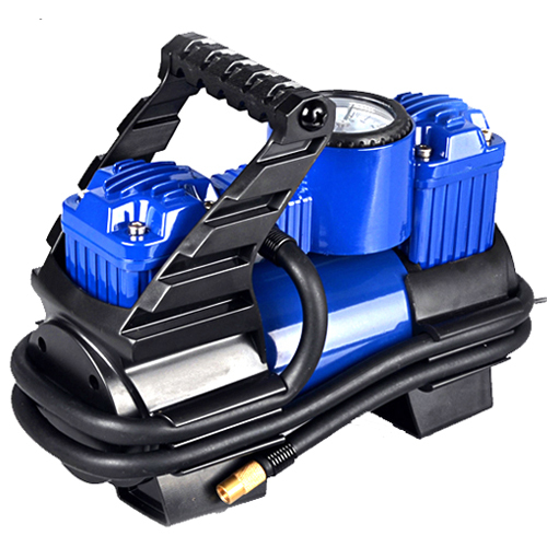 2015 Real New Arrival A Bicycle Tyre Parking Bomba Twin Inflatable Pump High Power Car Portable 12v for Vaporised 0377(China (Mainland))