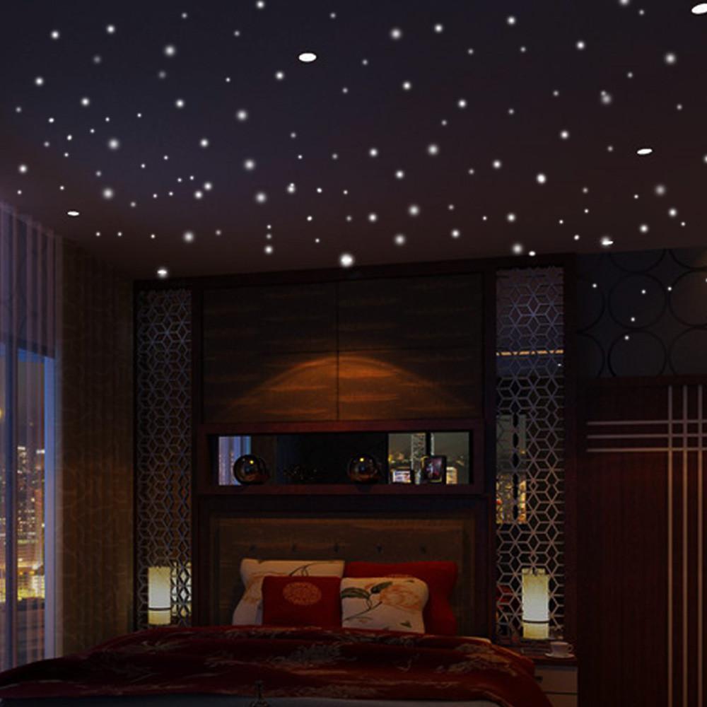 PVC 413PCS Dots Glow In The Dark Galaxy Set Wall Sticker Room Ceiling Decor