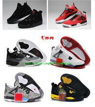 New arrivers cheap retro MJ 4 mens basketball online shoes, authentic sneaker us size 8-13 free shipping(China (Mainland))