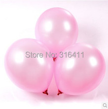 1.2g Pearl Pink balloons 100pcs/lot Wedding Decorations Birthday Latex Helium ballon Inflable Thickening Balls Free shipping
