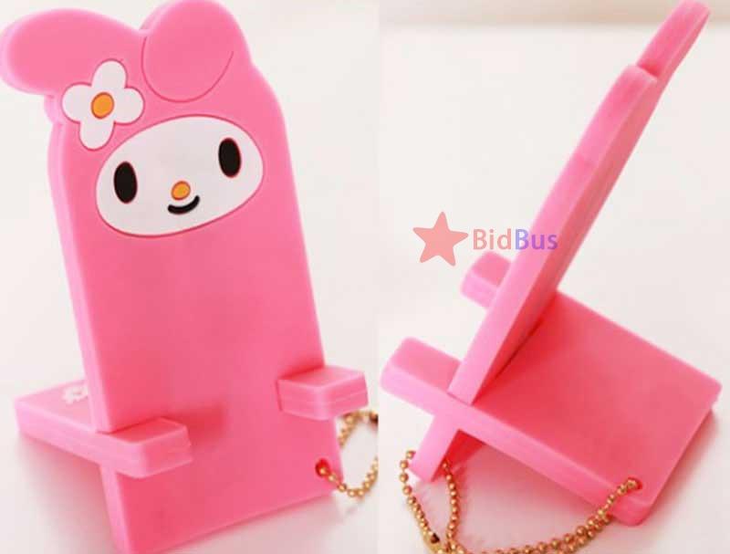 Bidbus Fast Funny Cute Rabbit Ahri Rubber Cartoon Desktop Car Home Office Phone Stand Holder(China (Mainland))