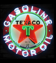 Texaco Oil Neon Sign 2016 Neon SignS Commercial Custom BOARD Neon Sign Glass Tube Handicraft gas SHOP Display VD 24X24 Present(China (Mainland))