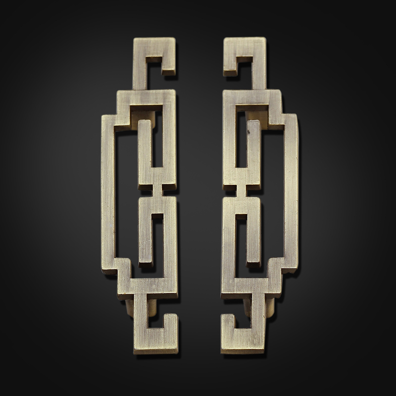 """5.6""""Pair of Chinese style antique symmetry pulls /Drawer Handles/Antique Brass Kitchen Cabinet Door Pull Handles/dresser handle(China (Mainland))"""