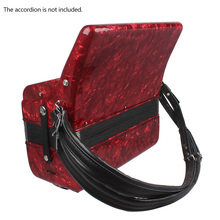 Top Quality One Pair Adjustable Synthetic Leather Accordion Shoulder Straps for 16-120 Bass Accordions(China (Mainland))
