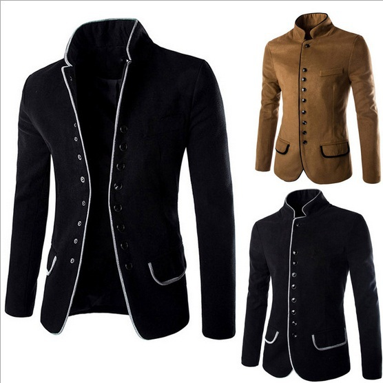 Chinese Tunic Suit Terno Masculino Luxury Fashion Breathable Slim Fit Export Costume Homme Casual Wool Cotton Blazer Men