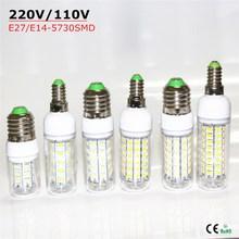 Buy 2016 New E27 / E14 220V / 110V Christmas lights SMD5730 LED Corn Lamp Warm White / White 24 36 48 56 69 72LEDs Lampada Led Bulb for $1.24 in AliExpress store
