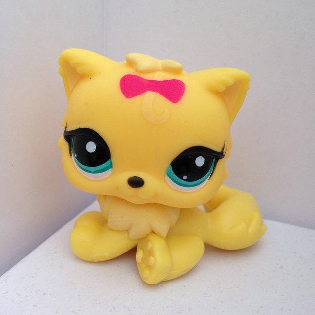 Зоомагазин кукла животных LPS рисунок ребенка игрушки гриль желтый кот DWA220