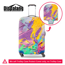 Graffiti Waterproof Luggage Protective Cover Anti-dust Elastic Brushwork Print Suitcase Cover For 18-30 Inch Case with Zipper(China (Mainland))