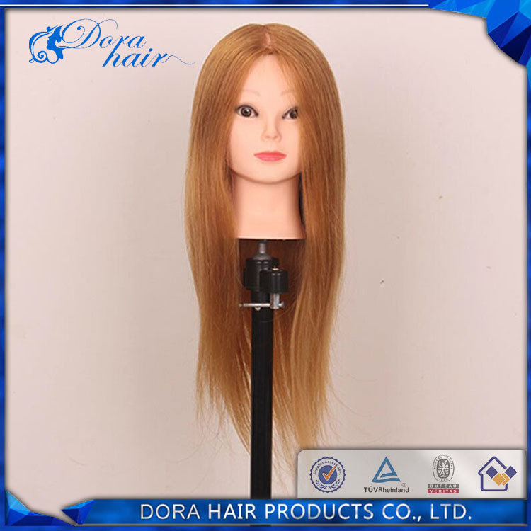 """free shiping 18"""" 100% high temperature synthetic fiber Hairdressing Mannequin Head making face-painting dummy training head(China (Mainland))"""