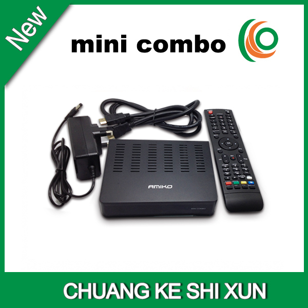 MPEG-4 H.264 receiver dvb-s2 dvb-t2 dvb c Amiko mini combo receiver(China (Mainland))