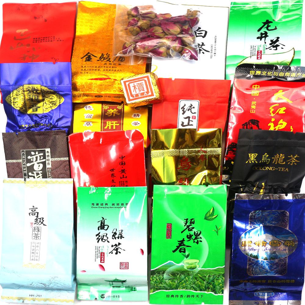 18 Different Flavor Chinese Tea Ripe Puer Milk Oolong tea Tieguanyin,Dahongpao,Green tea,Ginseng Oolong,Longjing black cha(China (Mainland))