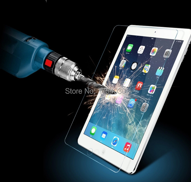For iPad air 1/2 Premium Real Tempered Glass Film for iPad 5 6 Explosion proof Screen Protector Toughened Film for iPad Air 2(China (Mainland))