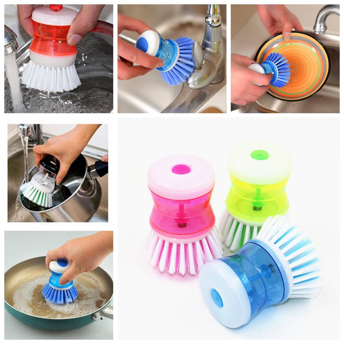 Brand New Good Promotion Kitchen Wash Tool Pot Pan Dish Bowl For Palm Brush Scrubber Cleaning Cleaner Plastic For Cleaning(China (Mainland))