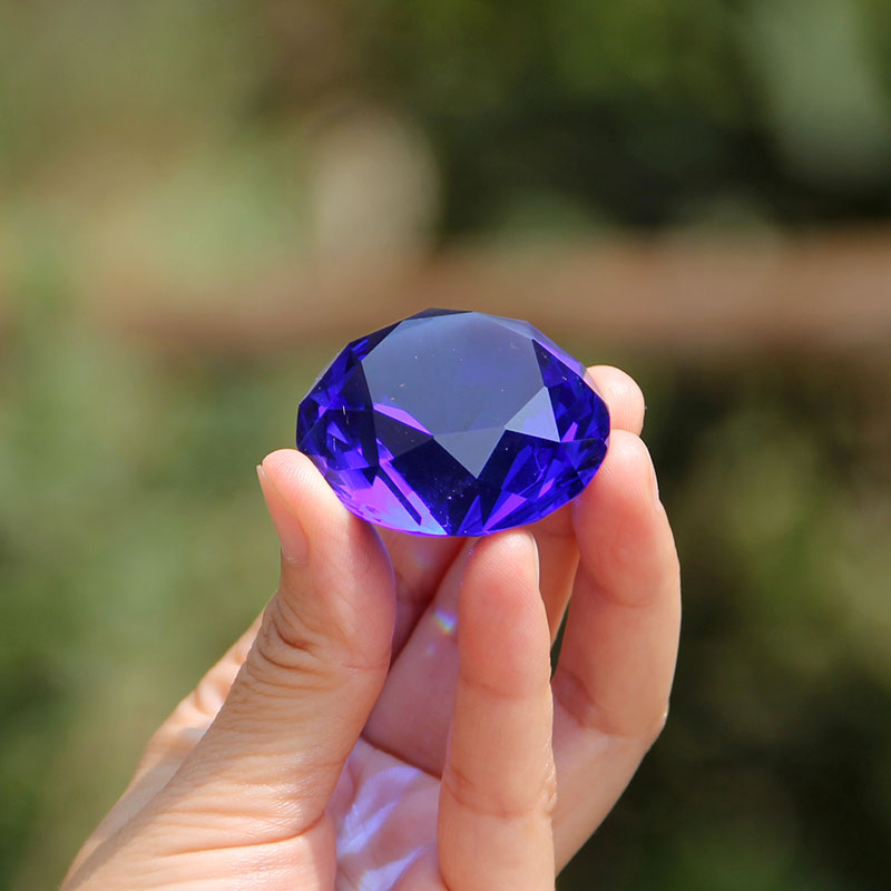 10Colorful 40mm Crystal Diamond Paperweight Glass Quartz Crafts Fengshui Ornaments Home Decor Figurine Birthday Wedding Gift(China (Mainland))
