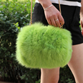 2016 New Fashion Lady s Shoulder Bags Natural Fox Fur Women s Shoulder Bag Hand Warmer