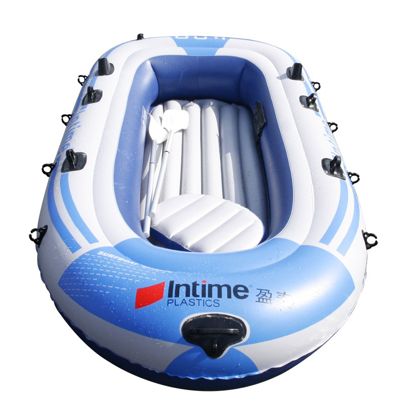 2/3/4 persons Intime inflatable boat with motor boats and inflatable boat fishing boat 4 thick(China (Mainland))