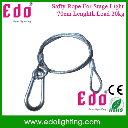 Free Shipping High quality Stage light safety rope cable/safe wire for stage light security 70cm length 3mm(China (Mainland))