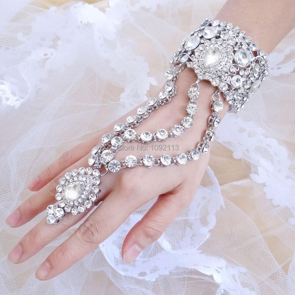 2015 New Spring Bella Fashion Gem Wedding Bracelet Ring Set Austrian Crystal Bridal Bracelet Set For Bride & Bridesmaid Gift