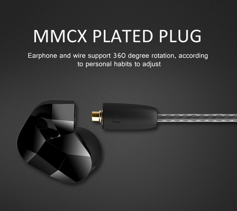 3.5mm Wired In ear Headset Moxpad X9 Dual Dynamic Driver Music Hifi Bass Headphones Sport Earphones with Mic For Smart Phones