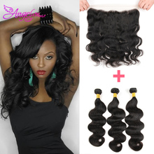 13*4Lace Frontal Closure With Bundles Human Virgin Hair With Closure Malaysian Hair With Closure Rosa Hair Products With Closure