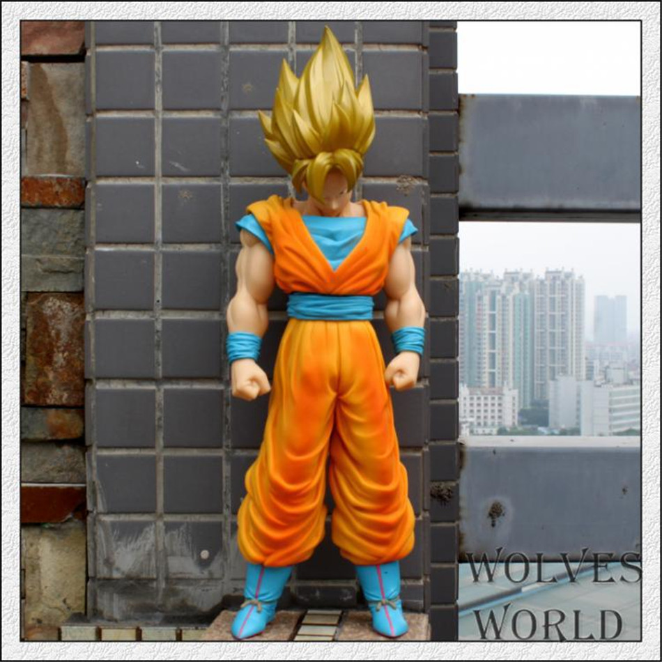 Big Size 42CM Anime Dragon Ball Z Son GOKU GOHAN Vegeta Super Saiyan Action Figures PVC Limit Boxed Collectible&Gift Toys 0415(China (Mainland))