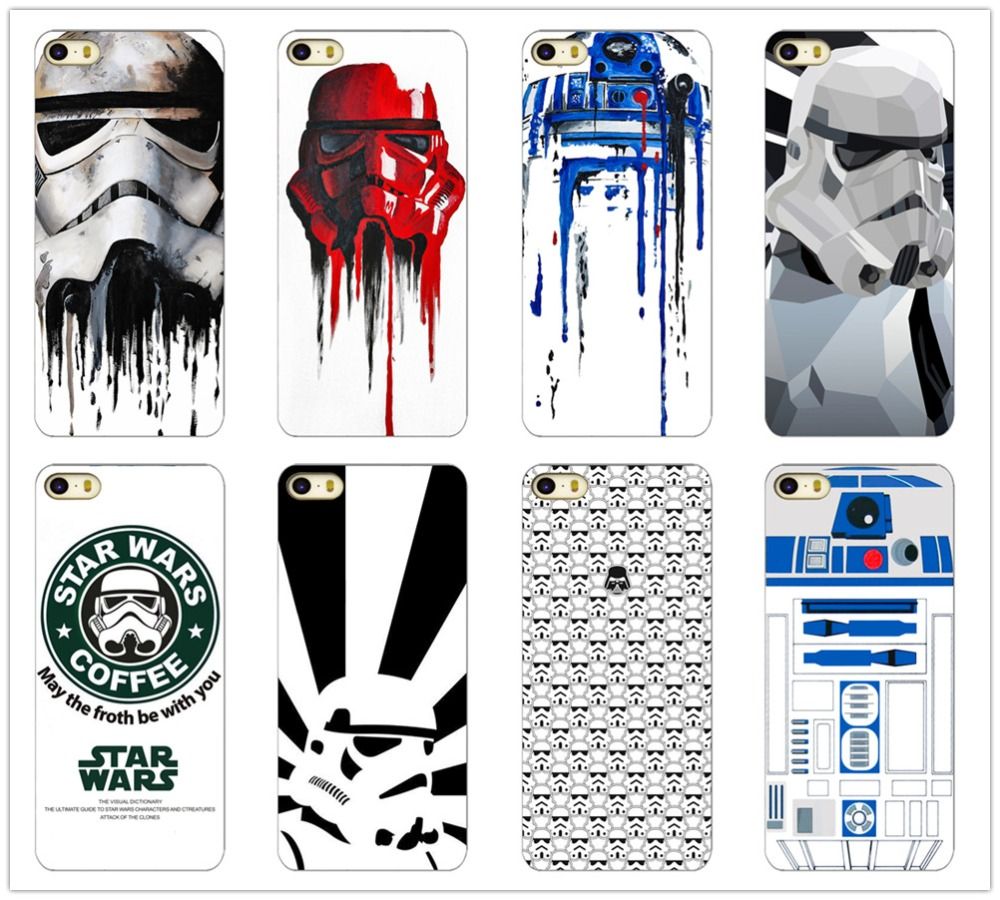 R2D2 STAR WARS COFFEE STORMTROOPER BACK PHONE CASE COVER FOR APPLE IPHONE 4 4S 5 5S - Mipple Phoneaccessory Store store