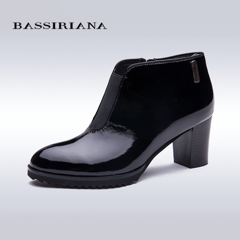 BASSIRIANA 2017 Casual Ladies Heels Woman Shoes Cow Full Grain Leather Shoes High Heel Pumps Women's High-heeled Shoes(China (Mainland))
