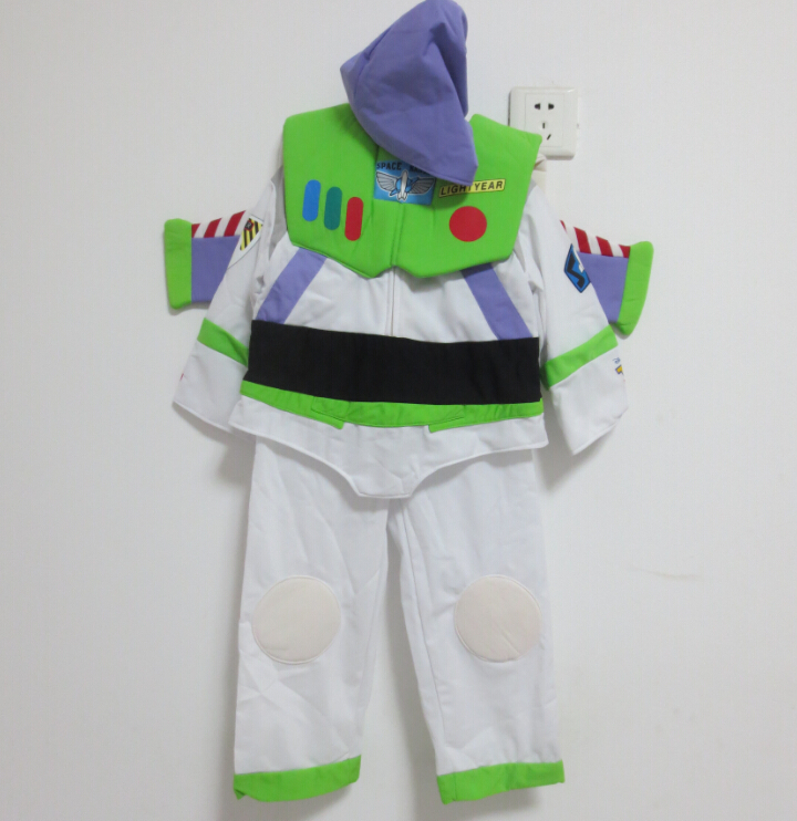 Free shipping ,high quality children buzz lightyear costume shoes Full set ,halloween Cosplay clothes for kid(China (Mainland))
