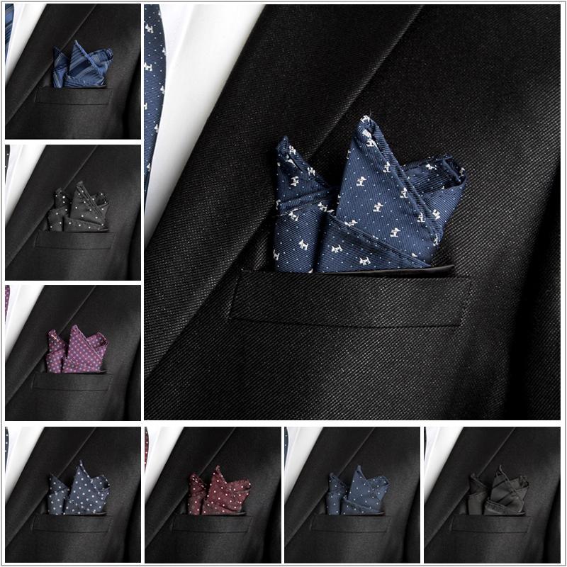 NEW men fashion stylefad brand silk men Navy blue dark red black dot floral strip checked