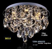 K9 LED Crystal Ceiling Modern decorative chandelier Circular living room lamps Creative Bedroom light Round Restaurant Lighting(China (Mainland))