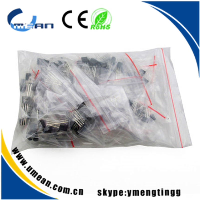 DIY electronic Parts low power NPN PNP Transistor S9012 S9013 S9014 S8050 S8550 total 17 types 170pcs/lot(China (Mainland))