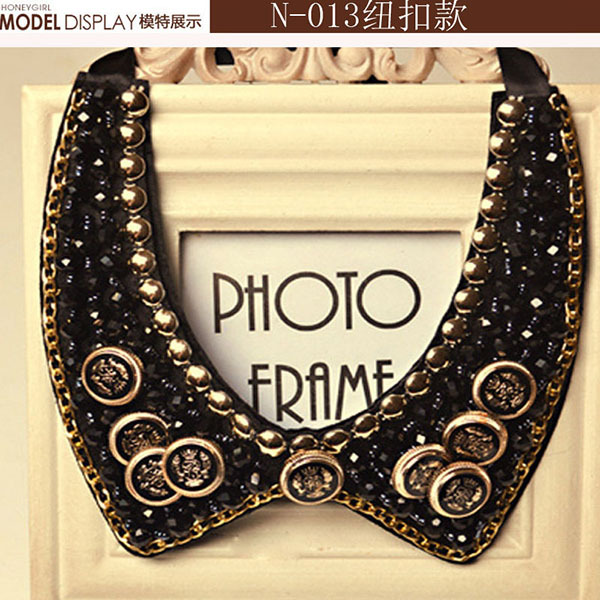 Elegant vintage charm popular drops ribbon reaf cross flower chocker necklace fake collar friends necklaces wholesale jewelry(China (Mainland))