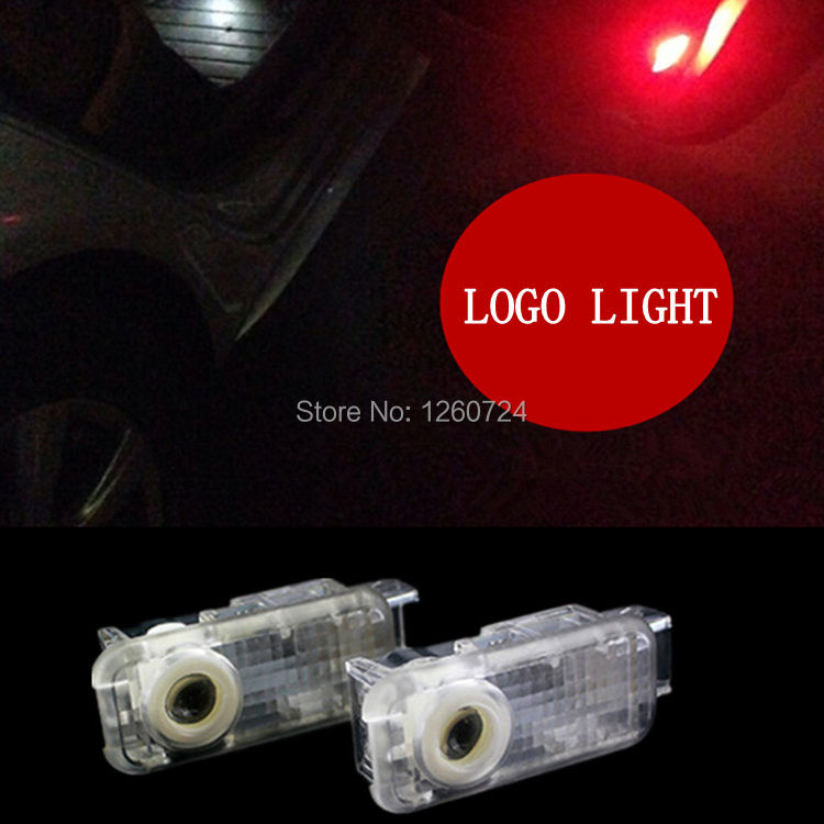 2 LED Car door courtesy laser projector Logo Ghost Shadow Light For Audi A8 A7 A6 C5 R8 A5 A4 B6 B8 A3 A1 R8 Q7 A4L A6L Q3 Q5(China (Mainland))