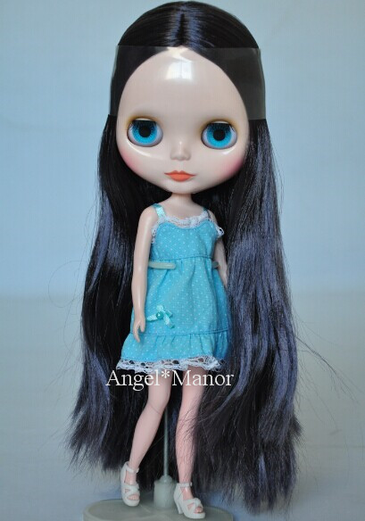Nude Blyth Doll black gray font b hair b font big eye doll special price For