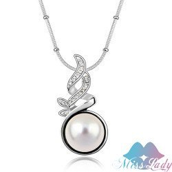 18K Gold Plated Pearl design  Reverse Chains Necklaces Wholesales Fashion Jewelry for women Z1102