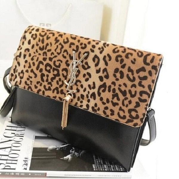 2015 spring clutch bag women's handbag women's day clutch bag leopard print horsehair clutch vintage envelope bag(China (Mainland))