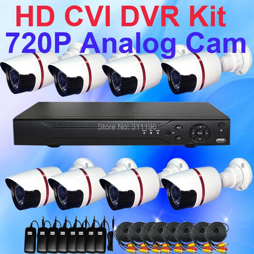 1.0 Megapixel 720P 8CH HD CVI CCTV DVR Camera System Waterproof Bullet Outdoor camera Network Video equipment(China (Mainland))