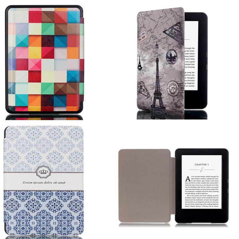 CY For Amazon 2014 New Kindle 7th Generation Ebook Reader Ultra Thin Slim Print PU Leather Cover Hard Shell Protective Case(China (Mainland))
