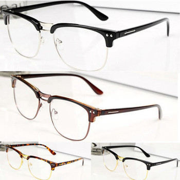 Rimless Fashion Glasses Clear Fashion Hipster Vintage Retro