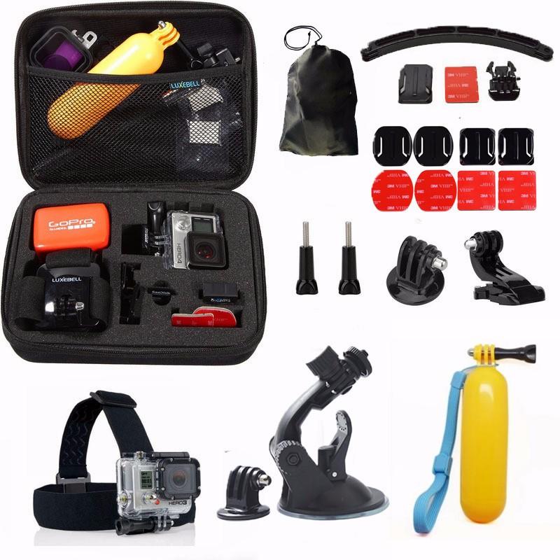 Gopro Accessories11 in 1 Head Strap Floating Handle kit for gopro hero 4 3+/3 SJ4000 5000 6000 7000 xiaomi yi Camera<br><br>Aliexpress