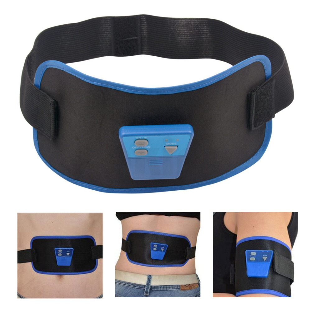 Black ABGymnic AB Gymnic Body Arm leg Waist Abdominal Muscle Electronic Massage Exercise Lose Weight Toning Toner Belt Slim Fit(China (Mainland))