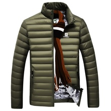 Down jacket men 2016 brand white duck down coat men ultra light down jacket men casual top quality Nian Jeep jacket men coat(China (Mainland))