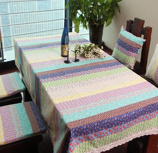 new season table cloths rectangular round shape cover cotton linen tablecloth, corloful floral table cover(China (Mainland))