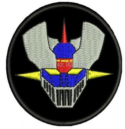 MAZINGER Z ANIME ROBOT CARTOON RETRO VIDEO Metal GAME Film TV MOVIE Cute Cartoon Embroidered Patch Badge(China (Mainland))