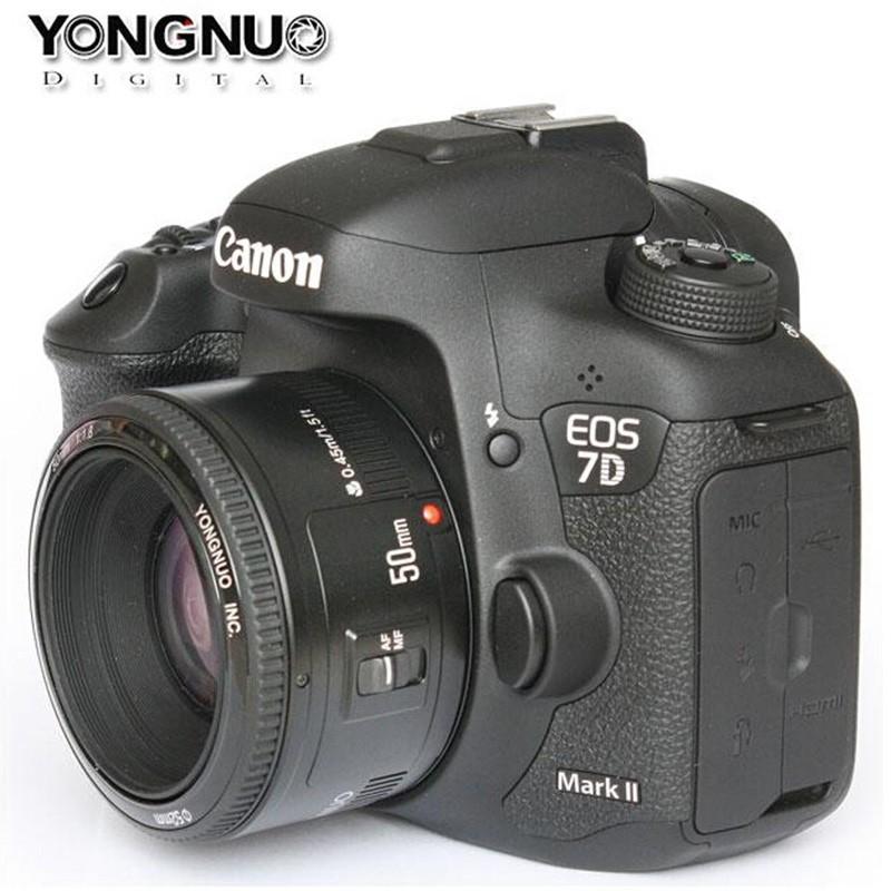 Вспышка yongnuo йн 50мм Ф1.8 большой Апертурой объектива Автоматическая фокусировка объектива УП 50 YN50 для Canon эти камеры DSLR